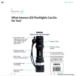 What Intense LED Flashlights Can Do for You? – Medium