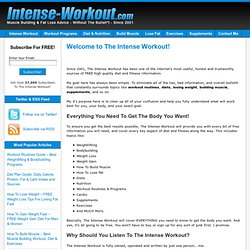 Intense Workout - FREE Weightlifting, Weight Loss & Weight Gain Routines