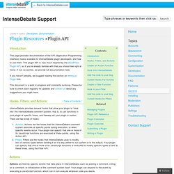 Plugin API
