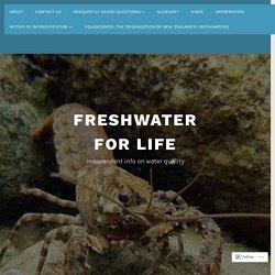 Myths of intensification – Freshwater for Life