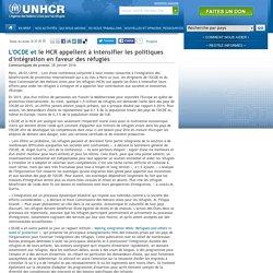 L'OCDE et le HCR appellent à intensifier les politiques d'intégration en faveur des réfugiés