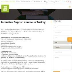 Intensive English Speaking Course in Turkey