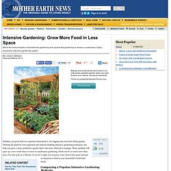Intensive Gardening: Grow More Food in Less Space (With the Least Work!) - Organic Gardening
