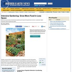 Intensive Gardening: More Food: Less Space, Less Work