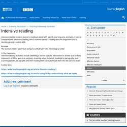 Intensive reading