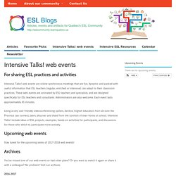 Intensive Talks! web events – ESL Blogs