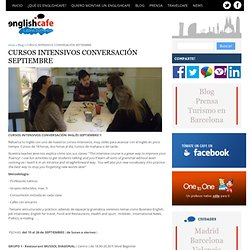 CURSOS INTENSIVOS CONVERSACIÓN SEPTIEMBRE