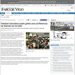 Intentan boicotear entre gritos una conferencia de Garzón en la USC