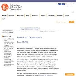 Intentional Communities - ICWiki