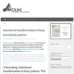 Intentional transformation in fuzzy enmeshed systems – Moliní – your partner in transformation
