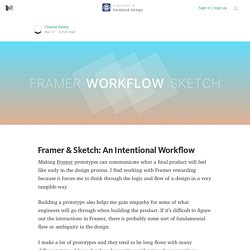 Framer & Sketch: An Intentional Workflow — Facebook Design
