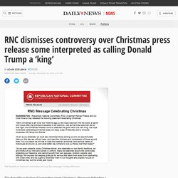 RNC dismisses controversy over Christmas press release