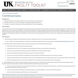 The Education Abroad Faculty Toolkit