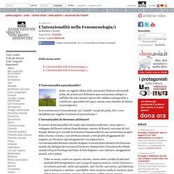 L'intenzionalità nella Fenomenologia/1