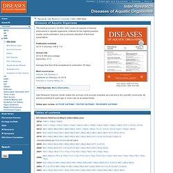 INTER RESEARCH DISEASES OF AQUATIC ORGANISMS - Résumés du bulletin mensuel en ligne.