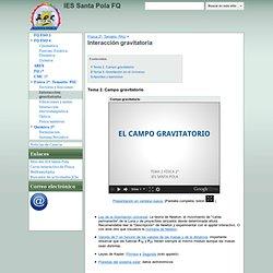 Interacción gravitatoria - IES Santa Pola FQ