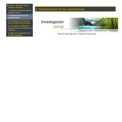 2. Interacciones en los subsistemas - Actividades interactivas