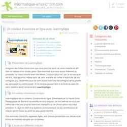 Créer des exercices interacitfs en ligne avec LearningApps
