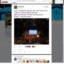 """Alain Starke on Twitter: """"Leuk, interactieve sessie met Twan Huys over Trump vs Hillary @TUeindhoven @SG_Eindhoven. Helaas weinig nieuwe dingen - volg het teveel..."""