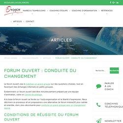Forum interactif - forum ouvert : conduite du changement