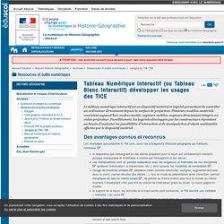Tableau Numérique Interactif (ou Tableau Blanc Interactif) développer les usages des TICE — Histoire-Géographie