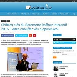 Baromètre Raffour Interactif 2015. Faites chauffer vos diapositives ! Etourisme.info