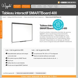 Tableau Interactif SMARTBoard 400 pour l'enseignement - SMARTboard.fr