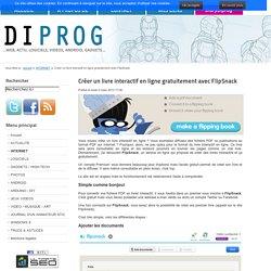 Créer un livre interactif en ligne gratuitement avec FlipSnack