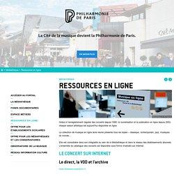 Ressource en ligne (concert internet, VOD, guide interactif) - Médiathèque