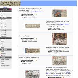 Album interactif de paléographie médiévale