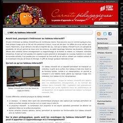 L'ABC du tableau interactif - Carnets pédagogiques