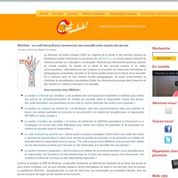 SEXOclic : un outil interactif pour promouvoir une sexualité saine auprès des jeunes