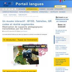 Un musée interactif : BYOD, Tablettes, QR codes et réalité augmentée. - Porta...