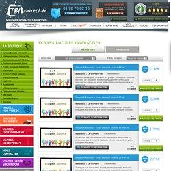 Ecran interactif, écran tactile - achat sur tbi direct