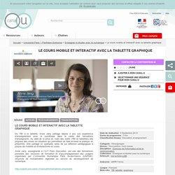 Le cours mobile et interactif avec la tablette graphique - Université Paris 1 Panthéon-Sorbonne