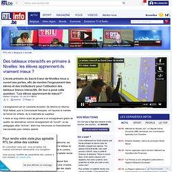 Des tableaux interactifs en primaire à Nivelles: les élèves apprennent-ils vraiment mieux ?
