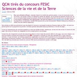 QCM interactifs - Concours FESIC - Sciences de la vie et de la Terre (SVT)
