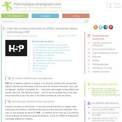 Créer des contenus interactifs en HTML5 directement depuis votre site avec H5P