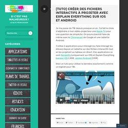 [Tuto] Créer des fichiers interactifs à projeter avec Explain Everything sur iOS et Android