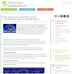 Exercices interactifs pour le fondamental avec le site de Micha