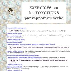 Exercices interactifs sur les fonctions grammaticales