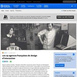 designers interactifs › Actualités › Actu › Les 28 agences françaises de design d'interaction