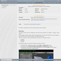 Extensions:2.6/Py/Scripts/3D interaction/BatchOperations