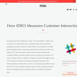 How IDEO Measures Customer Interaction — NOBL Collective - The Future of Work