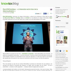 David McCandless : « L'interaction est le futur de la datavisualisation » | Knowtex Blog