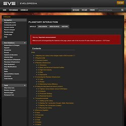 Planetary interaction - EVElopedia - The EVE Online Wiki