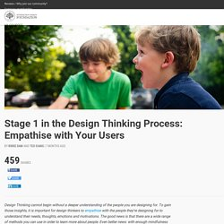 Stage 1 in the Design Thinking Process: Empathise with Your Users
