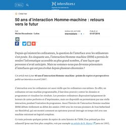 50 ans d'interaction homme-machine : retours vers le futur