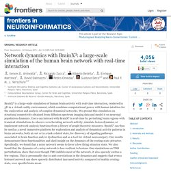 Network dynamics with BrainX3: a large-scale simulation of the human brain network with real-time interaction