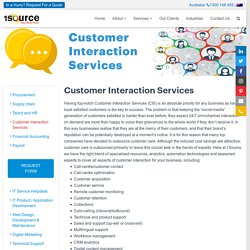 Customer Interaction Services